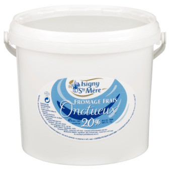 Fromage blanc lisse 20% MG 5kg Isifrais